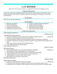 Resume Objective For Housekeeping Job by Caregiver Resume Objective Direct Support Professional Healthcare