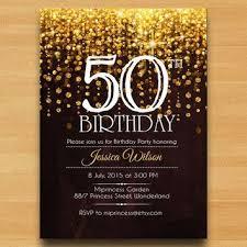 50th birthday party ideas invitation card for 50th birthday party vertabox