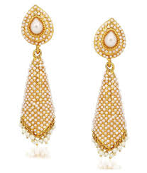jhumka earrings meenaz kundan pearl jhumka earrings for women in traditional