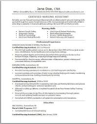 resumes for cna unforgettable nursing aide and assistant resume