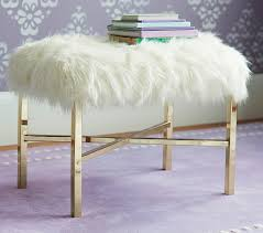 faux fur bench pottery barn kids
