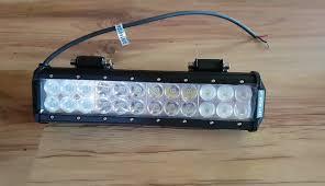 Atv Led Light Bar by Atv Led Light Bar Review Installation And Testing Youtube
