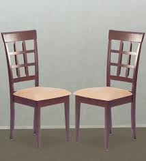 Indian Dining Chairs Buy Dining Chair Set Of 2 In Indian Mahogany Finish By
