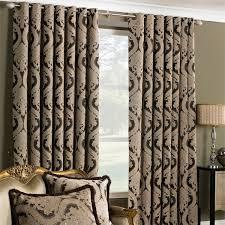 Eyelet Curtains 90 X 72 Renaissance Jacquard Woven Lined Eyelet Curtains Mocha 90 X 90