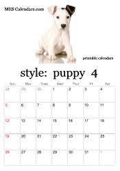 printable puppy calendars templates calendars print