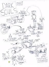 Dark Souls World Map by Gamer Draws His Favorite Game Maps From Memory Fullnovazero