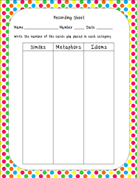 fit to be fourth similes metaphors u0026 idioms with a freebie