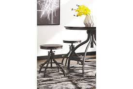 Odium Counter Height Dining Room Table And Bar Stools Set Of - Dining table for bar stools
