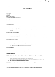 Sample Electrical Resume by Electrician Resume Canada Examples Corpedo Com