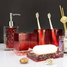 Burgundy Bathroom Accessories by Amazon Com 4 Piece Ribbed Black Ceramic Bathroom Accessory Set W