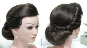 simple bridal hairstyle bridal hairstyle for long hair tutorial simple wedding updo youtube