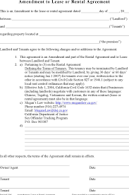 download amendment to lease or rental agreement for free tidyform