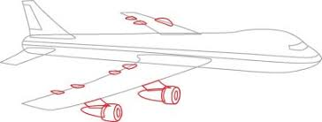 3 draw the engines how to draw passenger planes in 5 steps