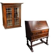 vintage ethan allen drop front secretary bookcase ebth