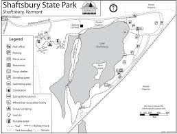 Vermont State Parks Map Shaftsbury State Park Maplets
