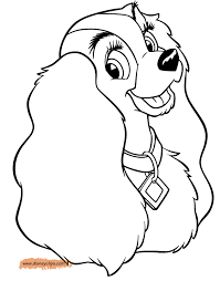 lady and the tramp printable coloring pages disney coloring book