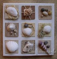 Seashell Craft Ideas For Kids - diy summer canvas with seashells inchies beautiful textures