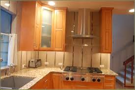 Kitchen Wall Cabinet Doors by Kitchen Range Vent Hood With Brick Backsplash Kitchen Cabinet