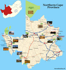 Northern Africa Map by Northern Cape Province Travel Guide Accommodation Tourist