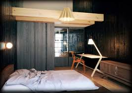 Sloped Ceiling Bedroom Decorating Ideas Japanese Bedroom Style Blue Stained Sloping Ceiling Surface