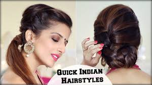college hairstyles in rebonded hai 2 elegant indian hairstyles with a puff for diwali for medium to