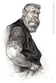 it u0027s funny because it u0027s true ron perlman pencil drawing for sale