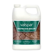 Lowes Concrete Walkway Molds by Shop Valspar Clear Wet Look Sealer Gloss Waterproofer Actual Net