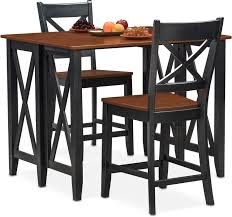 nantucket breakfast bar and 2 counter height side chairs black