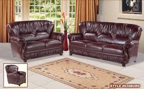 Tufted Leather Sofa Set by 2017 Latest Burgundy Leather Sofa Sets