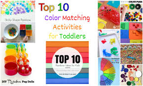 top 10 color matching activities for toddlers