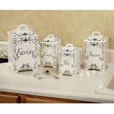 country kitchen canisters sets grasslands road ambiance flower bird butterfly embossed stoneware