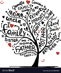 family tree sketch for your design royalty free vector image