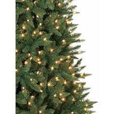 artificial christmas tree pre lit 9 u0027 williams pine clear lights