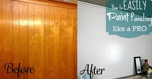 stained wood panels diy home repair hack easily paint over wood paneling