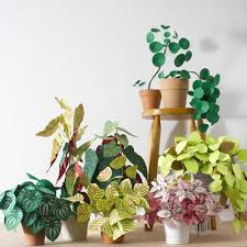 diy pretty and carefree paper plants gardenista