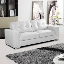 white leather sofa collection with tufted seats and cushions