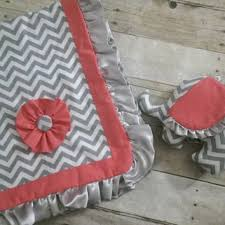 shop coral crib bedding on wanelo