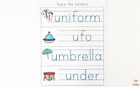 letter u worksheets for preschool kindergarten pack fun with mama