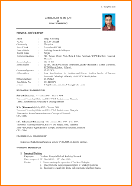 Sample Resume Format For Final Year Engineering Students by Resume Format Malaysia Free Resume Example And Writing Download