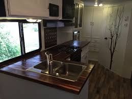 hand crafted butcherblock countertops for rv by mga custom custom made butcherblock countertops for rv