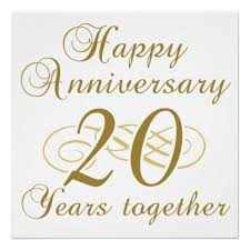 20 year wedding anniversary 20th wedding anniversary wishes messages and quotes happy with