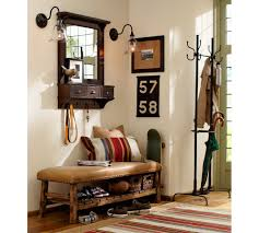 vintage entryway furniture design with wall mounted mirror with