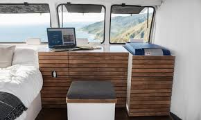 Cargo Van Desk Man Quits Desk Job To Transform Van Into A Digital Nomad U0027s Dream