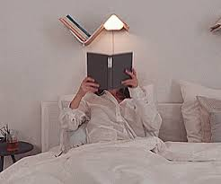lililite a bookshelf l acts as a bookmark and turns when