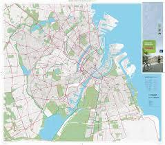 map of copenhagen copenhagen cycling map maplets