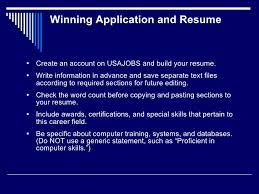 Job Application And Resume by Ala Ascla 2011 Virtual Convergence How To Find A Federal Job