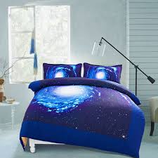 Space Bedding Twin Wish Galaxy Quilt Cover Galaxy Duvet Cover Galaxy Sheets Space