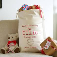 personalised sack by tillie mint