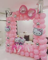 Wall Decoration With Balloons by Decorations Sanrio Party Supplies Hello Kitty Decorations