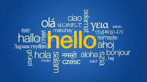 hello in different languages stock footage 12592933